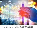double exposure of scientist... | Shutterstock . vector #367936787