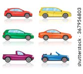 cars icons set. 6 different... | Shutterstock .eps vector #367956803