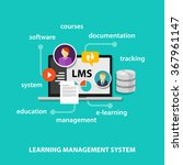 lms learning management system | Shutterstock .eps vector #367961147