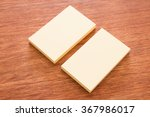 business card at the desk | Shutterstock . vector #367986017