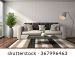 interior with sofa. 3d... | Shutterstock . vector #367996463