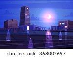 vector beautiful night cartoon... | Shutterstock .eps vector #368002697