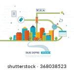 mobile marketing concept.... | Shutterstock .eps vector #368038523
