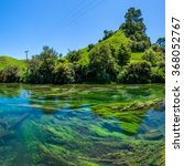 Small photo of Blue Spring which is located at Te Waihou Walkway,Hamilton New Zealand. It internationally acclaimed supplies around 70% of New Zealand's bottled water because of the pure water.