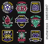 sport badges. graphic design...