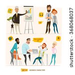 business characters set | Shutterstock .eps vector #368068037