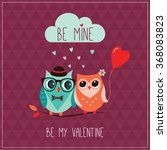 valentine's day greeting card... | Shutterstock .eps vector #368083823