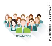 business people group in flat... | Shutterstock .eps vector #368104217