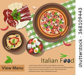 italian food. vector... | Shutterstock .eps vector #368109443