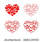 set of red isolated vector... | Shutterstock .eps vector #368114453