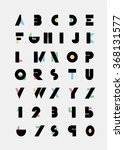color alphabetic fonts and... | Shutterstock .eps vector #368131577