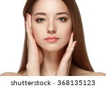 beautiful woman portrait face... | Shutterstock . vector #368135123