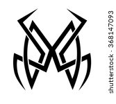tribal tattoo vector design... | Shutterstock .eps vector #368147093