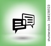pictograph of message or chat | Shutterstock .eps vector #368158523