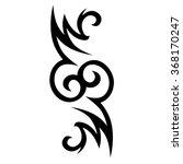 tattoo tribal vector design....   Shutterstock .eps vector #368170247