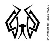 tribal tattoo vector design... | Shutterstock .eps vector #368170277