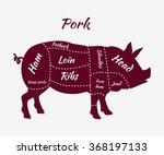 American Us Pork Or Pig Meat...