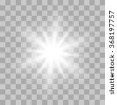 vector glowing light bursts... | Shutterstock .eps vector #368197757