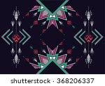 geometric ethnic pattern... | Shutterstock .eps vector #368206337