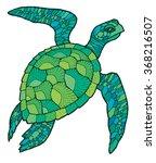 sea turtle   vector stylized...