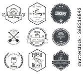 set of honey labels design... | Shutterstock . vector #368216843