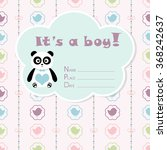 baby boy arrival card. baby... | Shutterstock .eps vector #368242637
