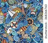 cartoon hand drawn doodles on...   Shutterstock .eps vector #368266763