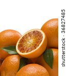 oranges with leaves | Shutterstock . vector #36827485
