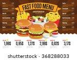 Fast Food Restaurant Menu...