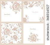 collection of 4 greeting cards. | Shutterstock .eps vector #368316527