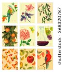 a set of vintage style postage... | Shutterstock . vector #368320787