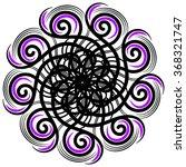 black  purple and white vector...   Shutterstock .eps vector #368321747