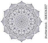 mandala. vintage decorative...   Shutterstock .eps vector #368326307
