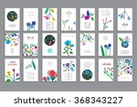 collection of unusual cards... | Shutterstock .eps vector #368343227