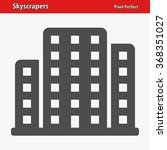 skyscrapers icon. professional
