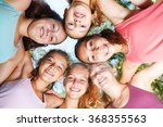 close up of cheerful teenage... | Shutterstock . vector #368355563