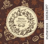 coffee background   hand drawn | Shutterstock .eps vector #368362397