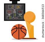 basketball icon design  | Shutterstock .eps vector #368366513