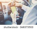 hand using phone sending a text ...   Shutterstock . vector #368373503