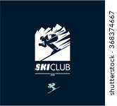 ski club logo  skier icon ... | Shutterstock .eps vector #368374667