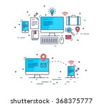 abstract flat style business... | Shutterstock .eps vector #368375777