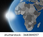 sunset over planet earth as if... | Shutterstock . vector #368384057