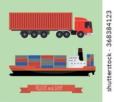 illustration of a flat truck... | Shutterstock .eps vector #368384123