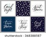 good night lettering postcard... | Shutterstock .eps vector #368388587