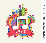 music note icon  audio sound... | Shutterstock .eps vector #368418413