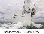 close up of sailing boat  sail... | Shutterstock . vector #368424197