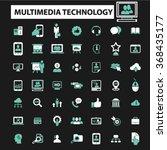 multimedia technology ... | Shutterstock .eps vector #368435177