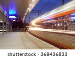 fast moving train | Shutterstock . vector #368436833