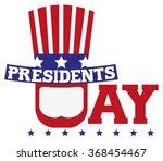 presidents day in usa.... | Shutterstock .eps vector #368454467