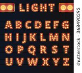 broadway style light bulb... | Shutterstock .eps vector #368490293